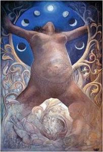 mujer pariendo.lunas