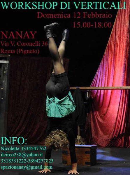 12 febbraio un nuovo workshop di Verticali da Nanay